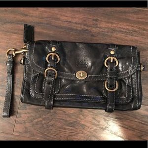 COACH leather clutch handbag NEW